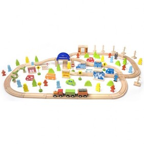 Classic World 110 Piece Train Set