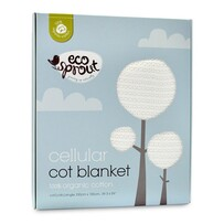 Eco Sprout Organic Cotton Cellular Cot Blanket