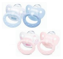 Nuk Soother Baby Rose & Blu Silicone 2 pack