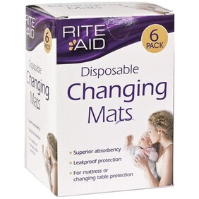 Rite Aid Disposable Changing Mats 6 pack