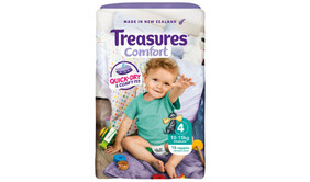 Treasures Comfort Toddler Size 4 Nappies 10-15kg 16pk