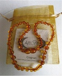 Amber Teether Necklace Baby - 33cm