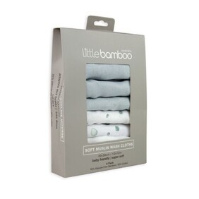Little Bamboo Muslin Washers 6 pack