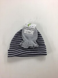 Grey Playette Newborn Leisure Cap & Mittens Set